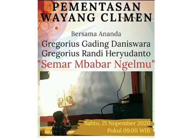 Live Wayang Climen SD Marsudirini St Yoseph